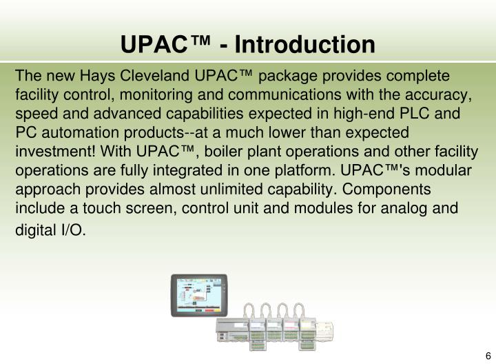 UPAC™ - Introduction