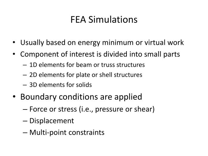 fea simulations