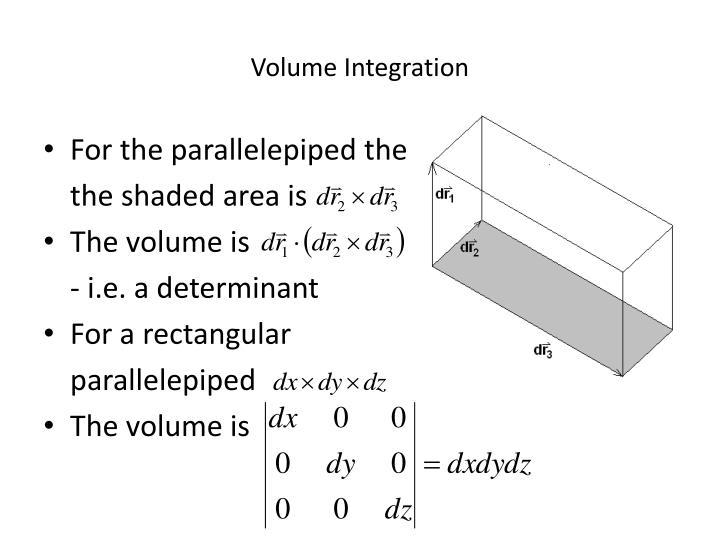Volume Integration