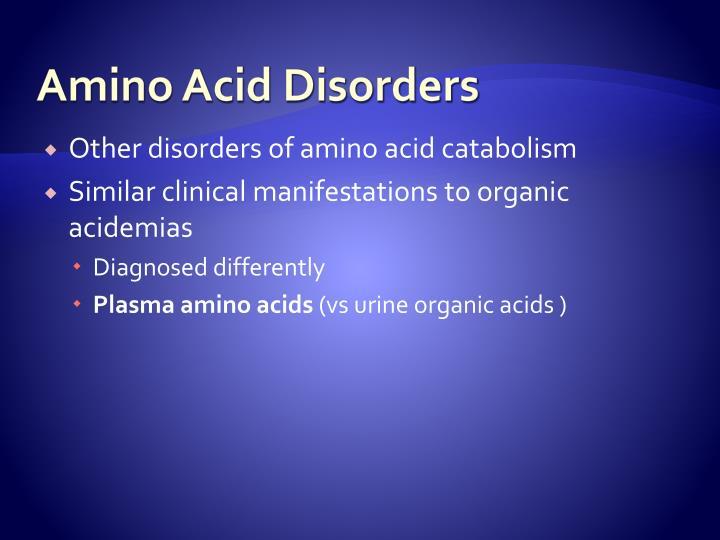 Amino Acid Disorders