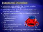 lysosomal disorders