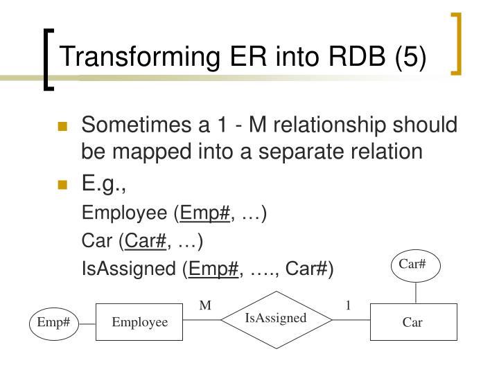 Transforming ER into RDB (5)