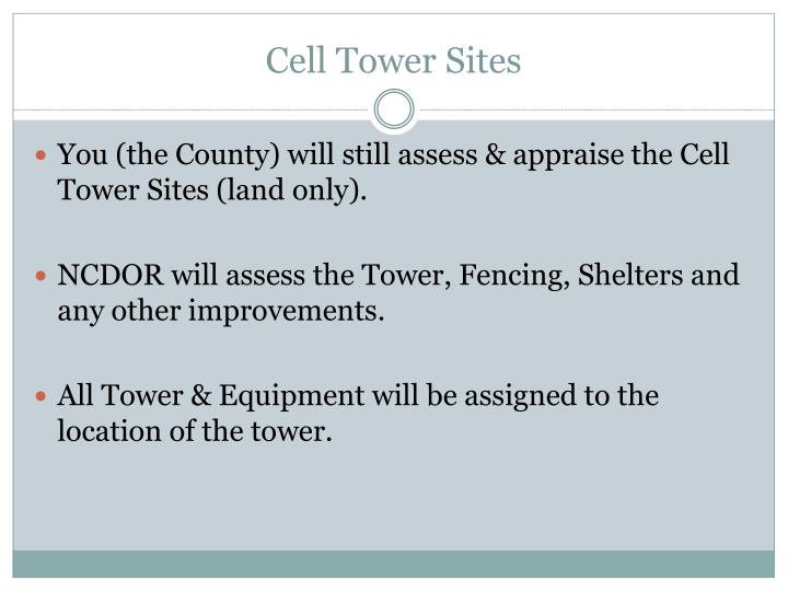 Cell Tower Sites
