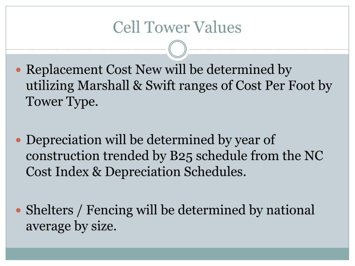 Cell Tower Values