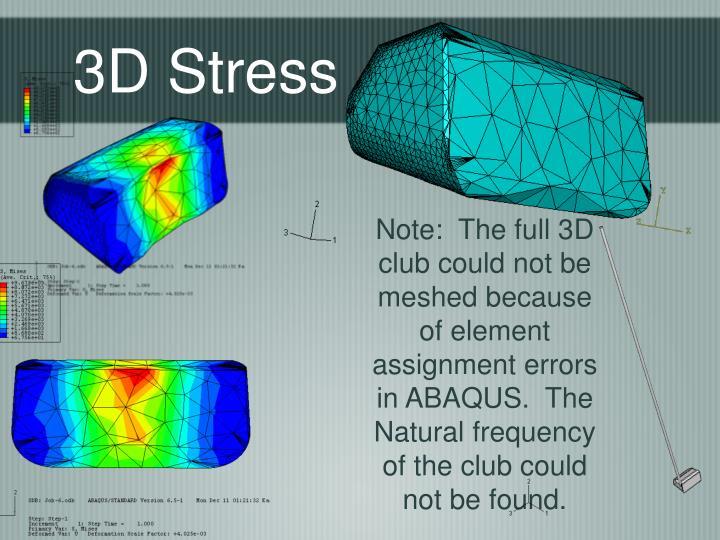 3D Stress