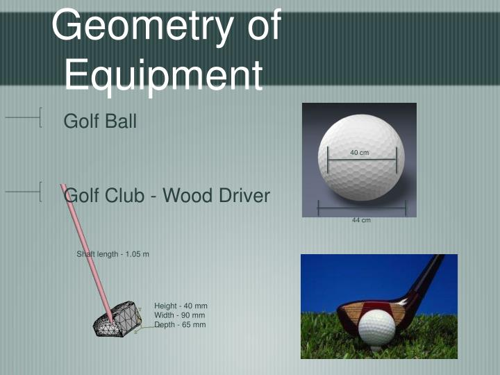 Geometry of Equipment