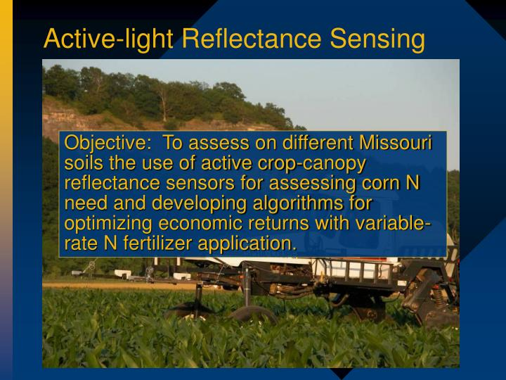 Active-light Reflectance Sensing