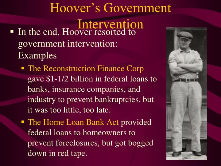 Hoover's Government Intervention