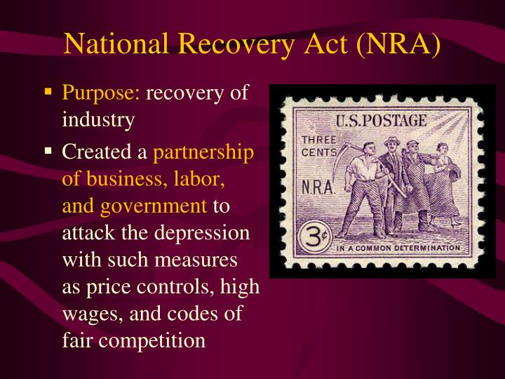 National Recovery Act (NRA)