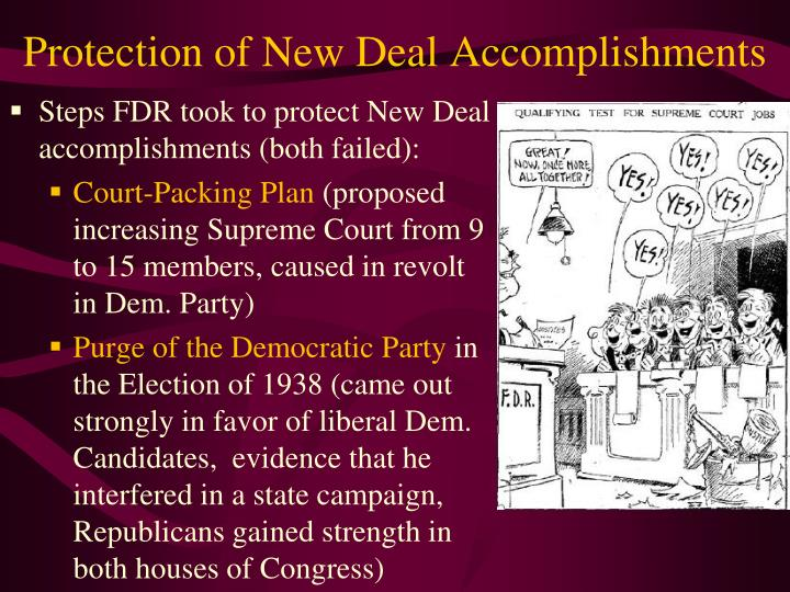 Protection of New Deal Accomplishments
