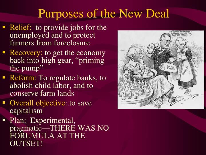 Purposes of the New Deal