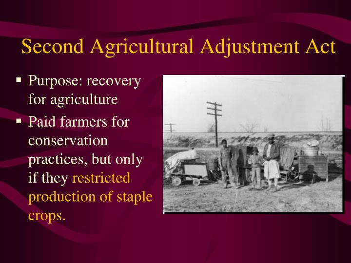 Second Agricultural Adjustment Act