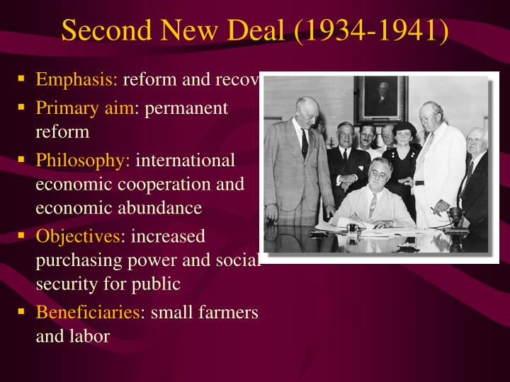 Second New Deal (1934-1941)