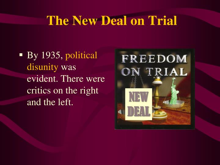 The New Deal on Trial