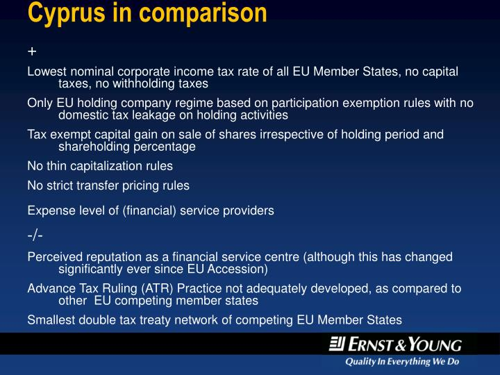 Cyprus in comparison