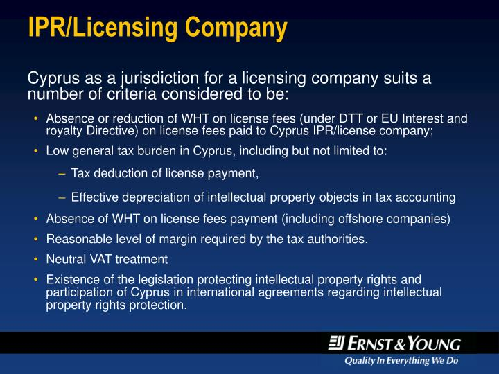 IPR/Licensing Company
