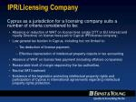 ipr licensing company