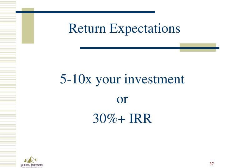 Return Expectations