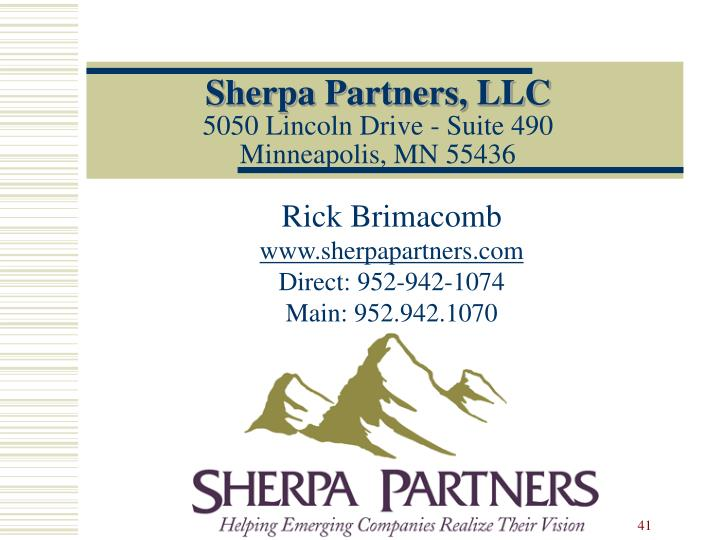 Sherpa Partners, LLC