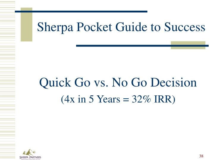 Sherpa Pocket Guide to Success