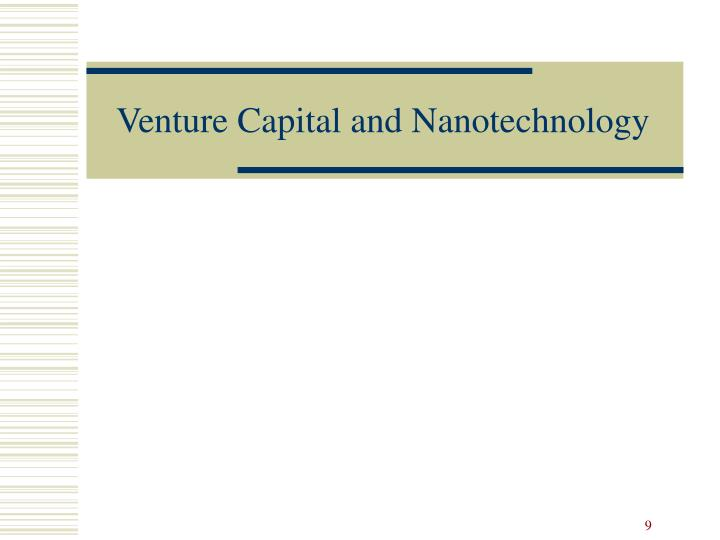 Venture Capital and Nanotechnology