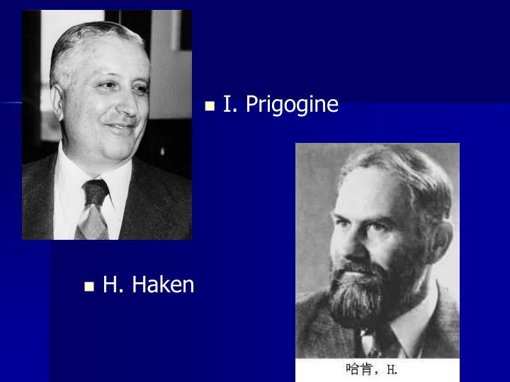 I. Prigogine