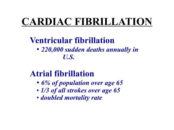 CARDIAC FIBRILLATION