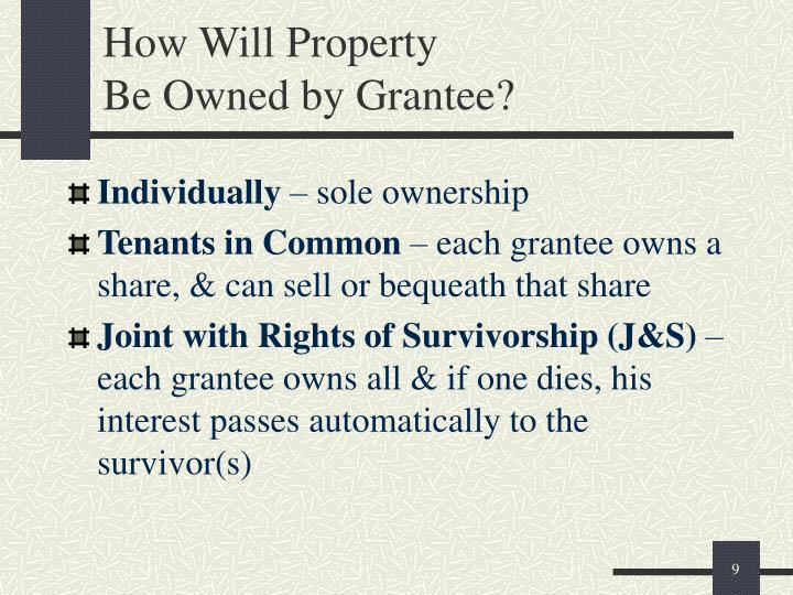 How Will Property