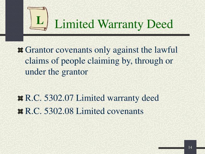 Limited Warranty Deed