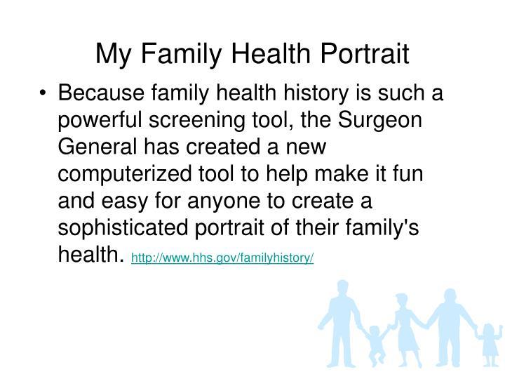 My Family Health Portrait