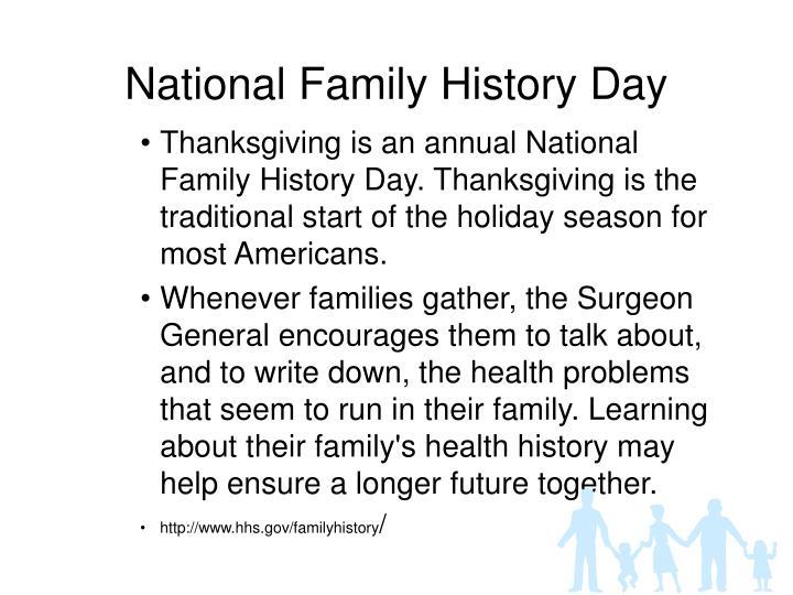 National Family History Day