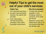 helpful tips to get the most out of your child s services1