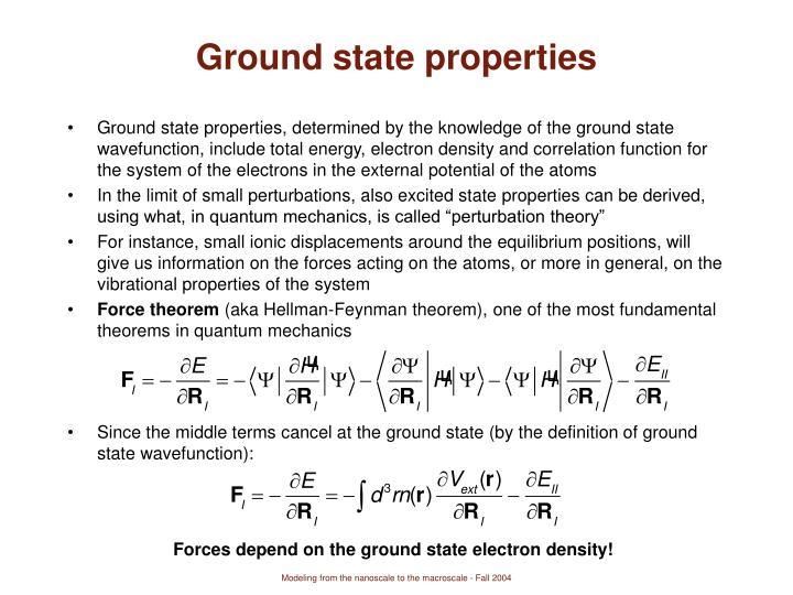 Ground state properties