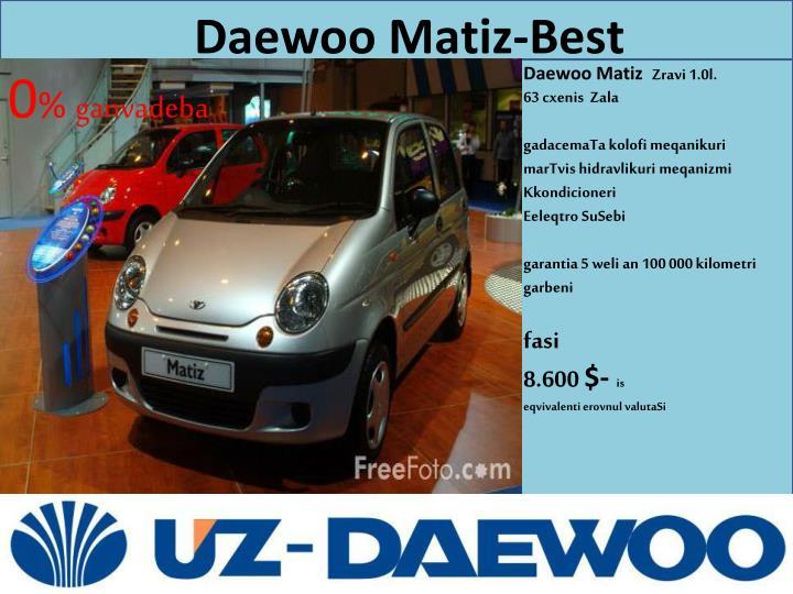 Daewoo Matiz-Best