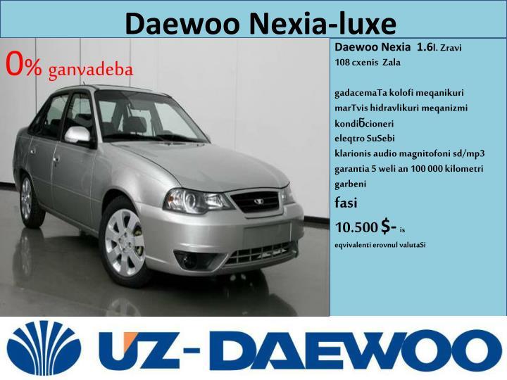 Daewoo Nexia-luxe