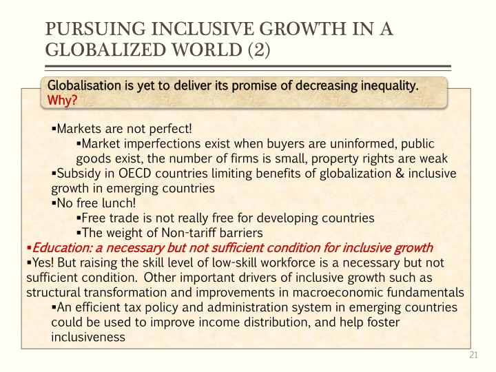 PURSUING INCLUSIVE GROWTH IN A GLOBALIZED WORLD (2)