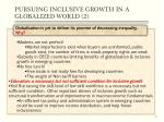 pursuing inclusive growth in a globalized world 2