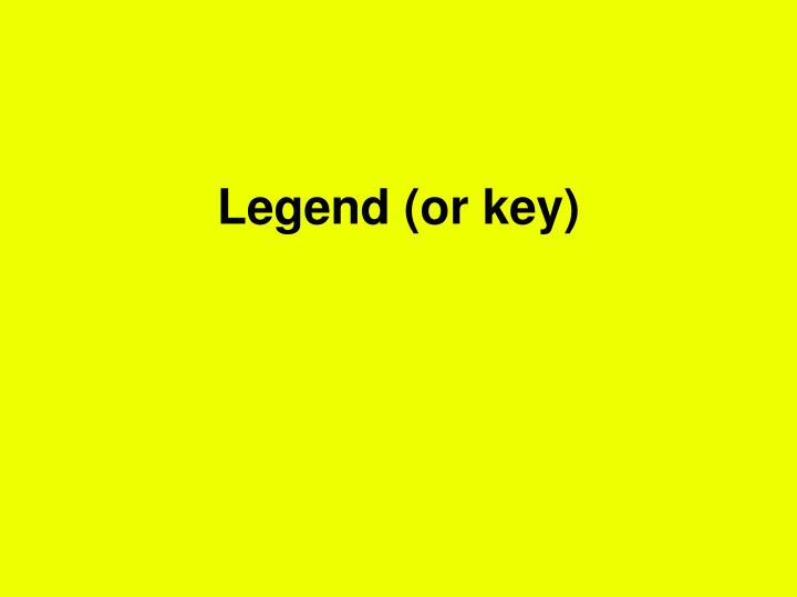 Legend (or key)