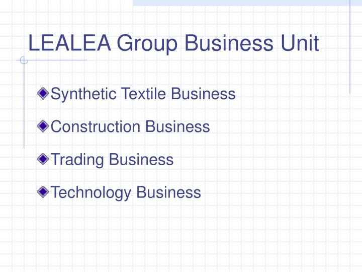 Lealea group business unit