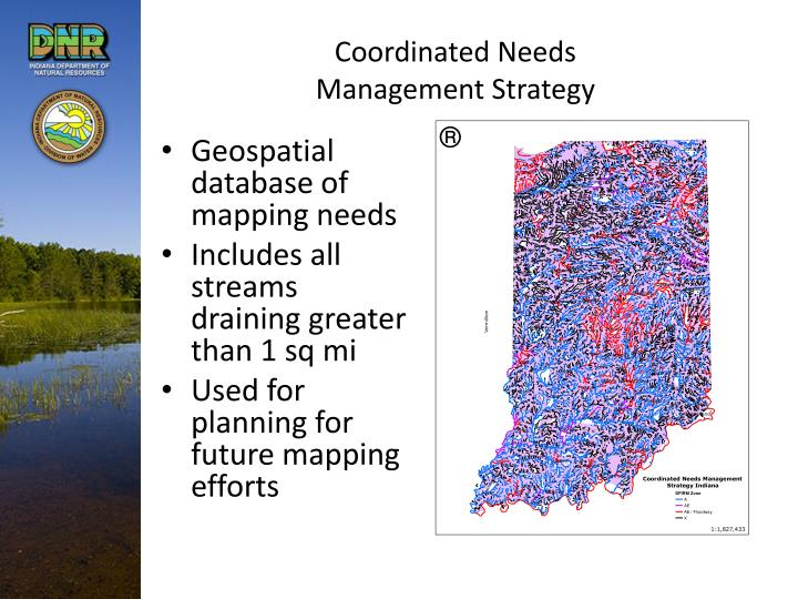 Coordinated Needs Management Strategy