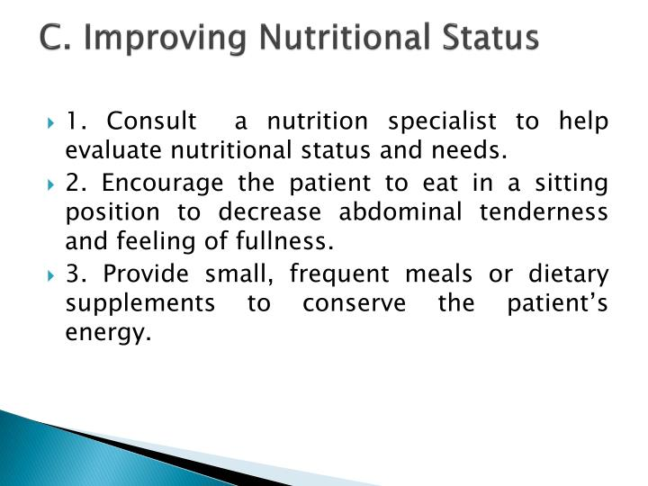 C. Improving Nutritional Status