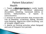 patient education health maintenance