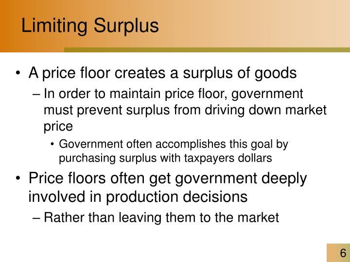 Limiting Surplus
