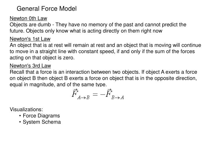 General Force Model