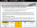 general student growth objectives1