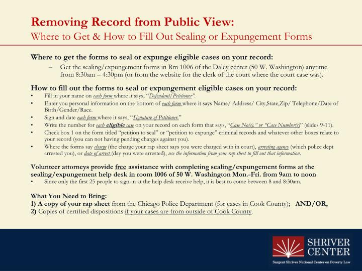 Removing Record from Public View: