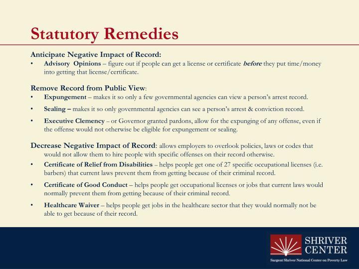 Statutory Remedies