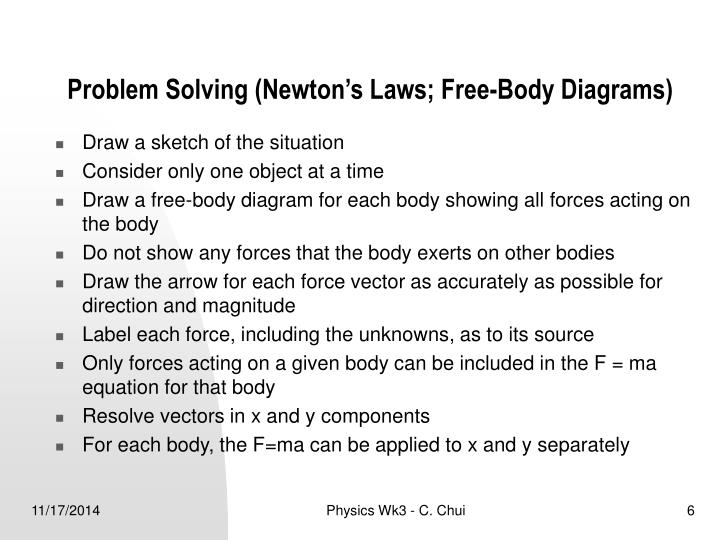 Problem Solving (Newton's Laws; Free-Body Diagrams)