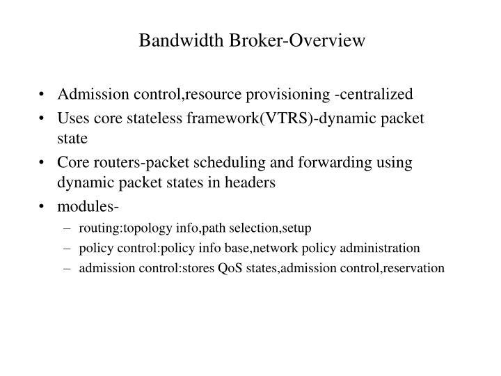 Bandwidth Broker-Overview