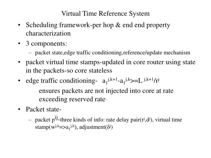 Virtual Time Reference System